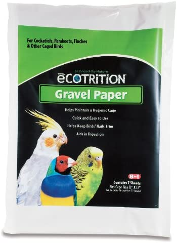 """Ecotrition Gravel Paper for Birds, 8 3/4"""" x 13 3/8"""", 7-Count (C341)"""