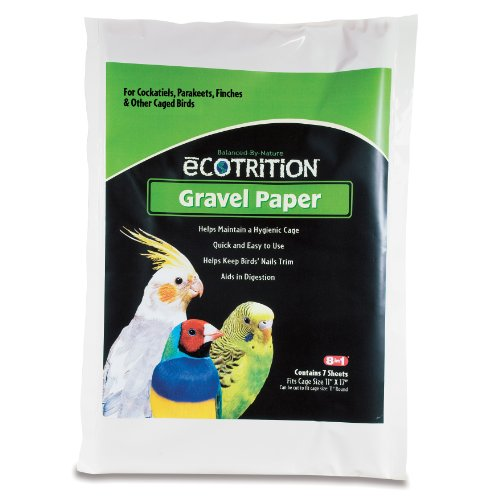 Ecotrition Gravel Paper for Birds, 11 by 17-Inch, 7-Count