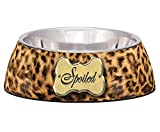 Loving Pets Spoiled Leopard Milano Bowl for Dogs and Cats, Small Review