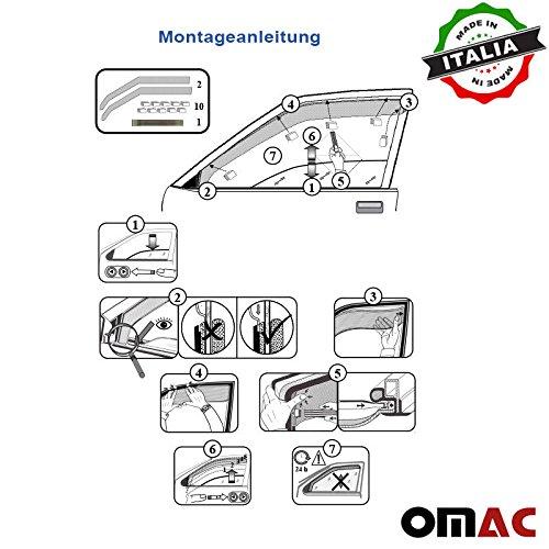 Omac GmbH Dacia Sandero Stepway Logan MCV Windabweiser Regenabweiser 2X Satz Vorne ab 2014