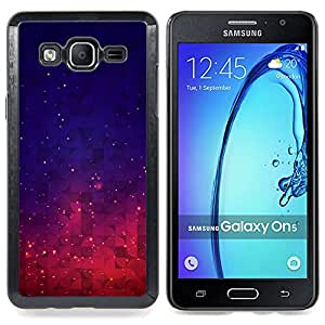 - Stars Space Purple Blue Night Sky Vibrant/ Duro Snap en el tel????fono celular de la cubierta - Cao - For Samsung Galaxy On5 SM-G550FY G550