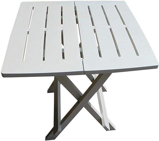 Tavoli In Resina Pieghevoli.Uk Gardens Bianco Tavolo Da Giardino In Resina Plastica Leggera