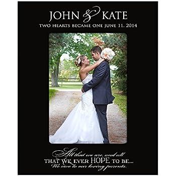 Amazon.com - Wedding Photo Frame Personalized Parent Wedding Gifts ...