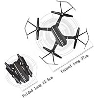 RC Quadcopte,2.4G 4CH Altitude Hold RC Quadcopter Pocket Drone Selfie Fold Without Camera By Dacawin (Black)