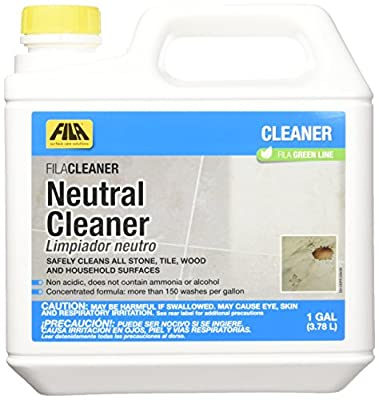 FILA Neutral Cleaner 1 Gallon, All Purpose Neutral Cleaner Concentrate Ideal for Floors, All Natural Stone, Tile, Wood and Household Surfaces, Eco-Friendly