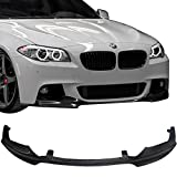 Front Lip Fits 2011-2016 BMW F10 | 5-Series M-Tech M-Sport V Style Front Bumper Lip Carbon Fiber CF by IKON MOTORSPORTS | 2012 2013 2014 2015