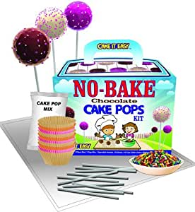 Cake It Easy, No-Bake Cake Pops Kit - Create & Decorate - Fun for Kids!