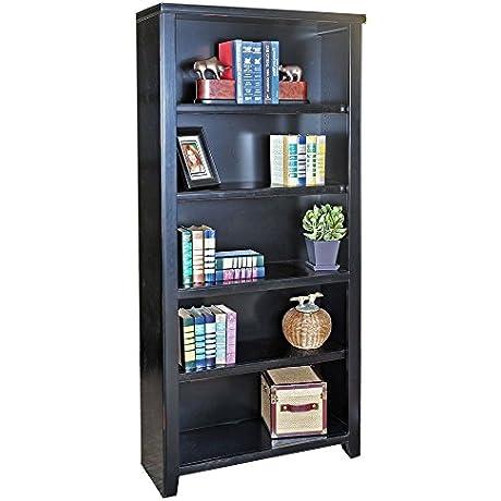 Tribeca Loft Black Five Shelf Open Bookcase 70 HDimensions 32 W X 12 5 D X 70 H Weight 150 Lbs