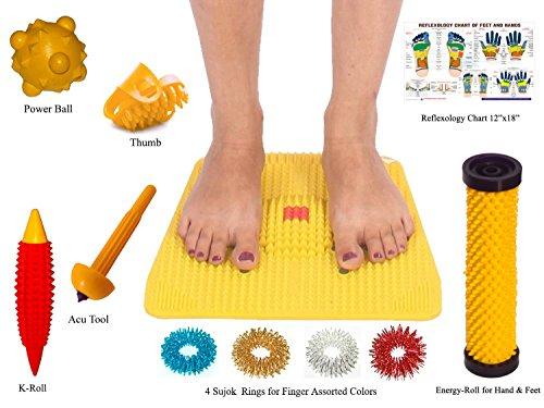 Точечный массаж Мат с магнитами пирамид для облегчения боли и общего здоровья Размер 12x12.5 дюймах
