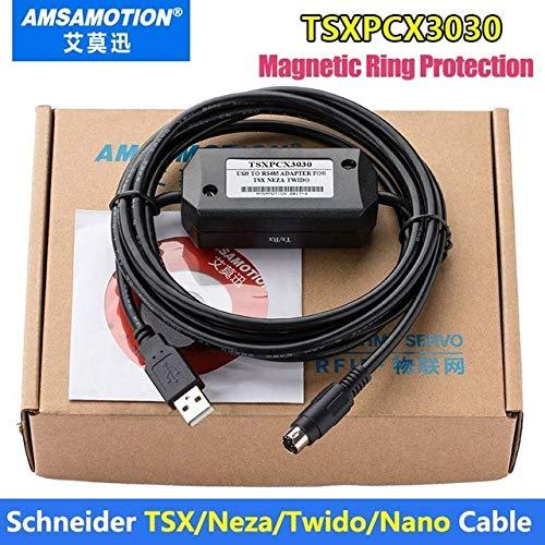 Isali TSXPCX3030-C TSXPCX3030 Suitable Schneider TSX/Neza/Twido/Nano PLC  Programming Cable - (Color: TSXPCX3030-C Black)