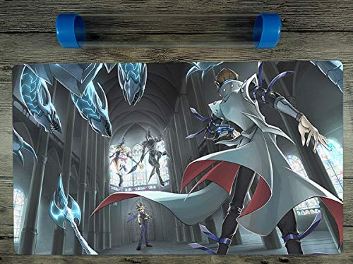 YuGiOh Dark Magician & Blue Eyes White Dragon Playmat Mat Free Tube