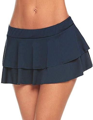 beautyjourney Faldas Cortas Plisadas de Clubwear para Mujer ...