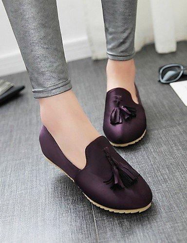 Purple Planos 5 Punta Y Uk6 Morado Purple Semicuero us8 Eu36 us6 Casual Plano Oficina Bermell¨®n Zapatos Yyz 5 Eu39 De Mujer Trabajo negro Redonda Zq Tac¨®n Uk4 Exterior Cn40 Cn36 8UgYnw
