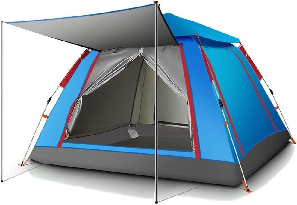 Camping Tent, volautomatische Quick Opening Thicken Waterproof Camping Family Outdoor Tent Ventilatie Duurzaam Gemakkelijk te snel te installeren WKY (Color : NAVY BLUE) BLUE