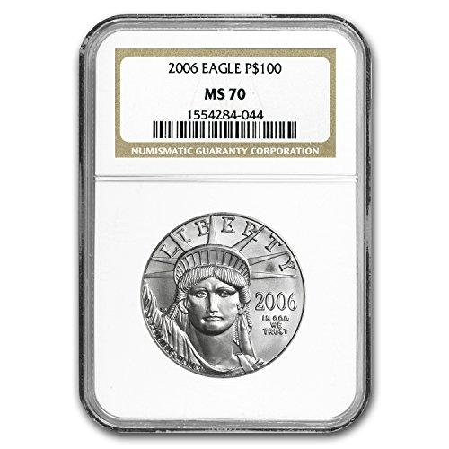 1997 – Present 1 oz Platinum American Eagle MS-70 NGC (Random Year) 1 OZ MS-70 NGC