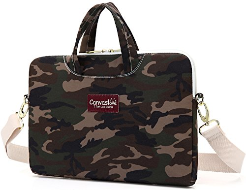 Canvaslove Camouflage Pattern Waterproof Laptop Shoulder Bag Sleeve Case (11 inch-13.3 inch/Macbook Pro & Air 13) - Camo Computer Case