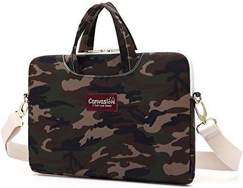 Canvaslove Camouflage Pattern Waterproof Laptop Shoulder Bag Sleeve Case (15 inch) Camouflage Canvas Shoulder Bag
