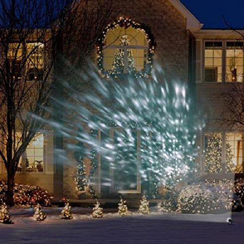 Christmas Projector.Light Show White Kaleidoscope Projection Light Outdoor Ultra Bright Christmas Projector