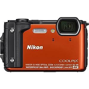 Nikon W300 Waterproof Underwater Digital Camera with 3-Inch TFT LCD, Black from Nikon
