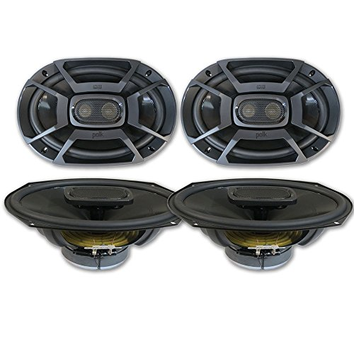 4 x Polk Audio 6x9 3-Way Car audio Boat Motorcycle Marine UTV Audio Coaxial Speakers ()