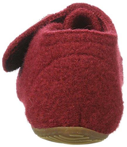 Living Kitzbühel Unisex Baby Babyklett. mit Sternenstick Hausschuhe Rot (Rubin 389)