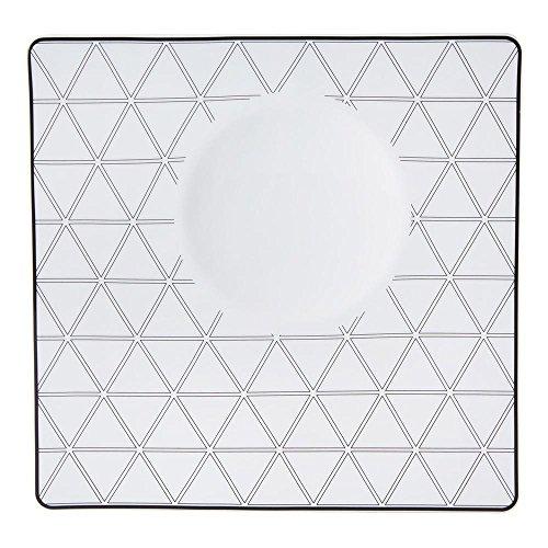 Vista Alegre Porcelain Orquestra Deep Square Solar Plate - Set of 4 by Vista Alegre