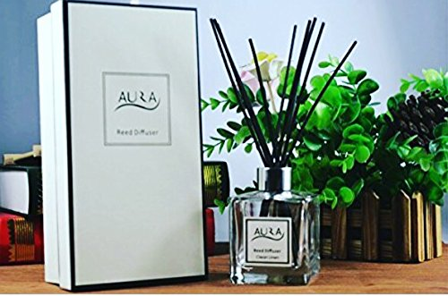 Luxury Reed Diffuser with 10 Reed Sticks, 120ml, Fresh Linen by Aura (Image #7)