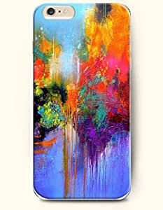 Apple iPhone 6 Case ( 4.7 inches) with Design of Watercolor Painting- A Serene Lake - Rainbow Color Series -OOFIT Authentic iPhone Skin