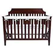 Trend Lab Waterproof CribWrap Rail Cover - For Narrow Long Crib Rails Made to Fit Rails up to 8  Around