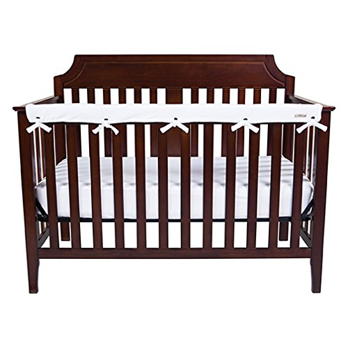 (Trend Lab Waterproof CribWrap Rail Cover - For Narrow Long Crib Rails Made to Fit Rails up to 8