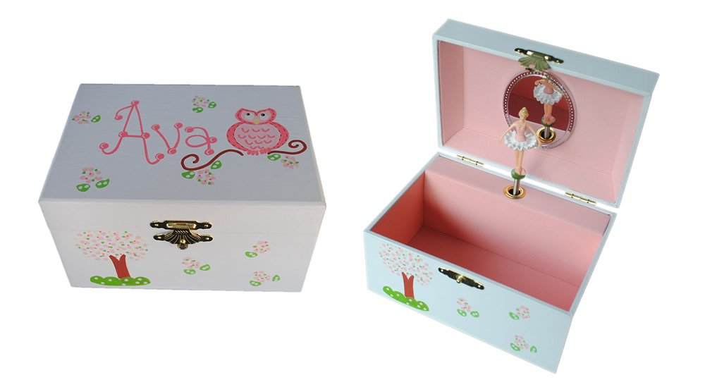The Spoiled Sprout Personalized Children's Ballerina Musical Jewelry Box