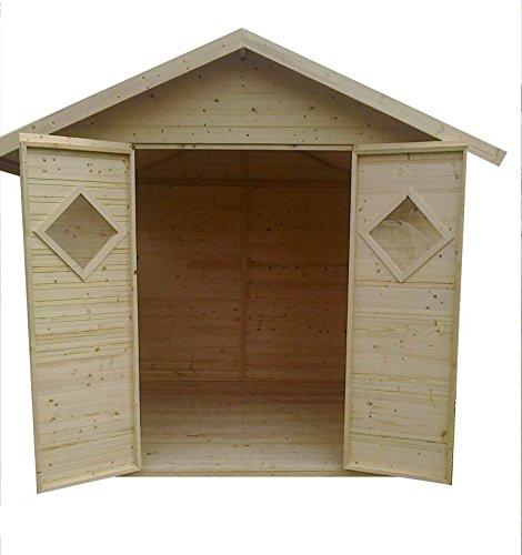 Casa de madera para jardín de CADEMA, 2, 7 x 2, 7 m, (19 mm) con ventanas, modelo Málaga: Amazon.es: Jardín