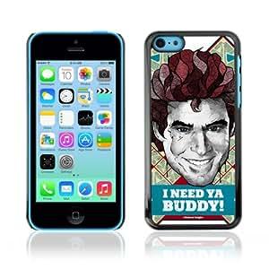 CQ Tech Phone Accessory: Carcasa Trasera Rigida Aluminio para Apple iPhone 5C - Cool Michael Knight Kitt Illustration