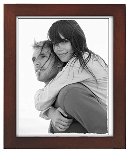 Malden International 8x10 Picture Frame Linear - Dark Walnut Wood, Set of 2