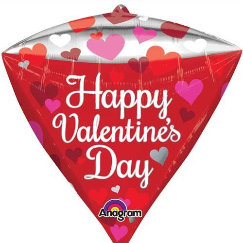 Diamond Shaped Valentine Balloon