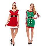 Just One Womens Knit Ugly Christmas Sweater Dress Xmas For Women (Also Plus Size)