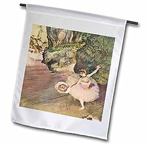 3dRose fl_61804_1 Edgar Degas Painting Take a Bow of Ballerinas Garden Flag, 12 by 18-Inch