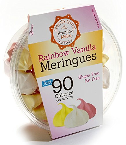 Original Meringue Cookies (Rainbow Vanilla) • 90 calories per serving, Gluten Free, Fat Free, Nut Free, Low Calorie Snack, Kosher, Parve • by Krunchy Melts