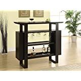 Monarch Specialties Bar Unit with Bottle and Glass Storage, 48-Inch, Cappuccino