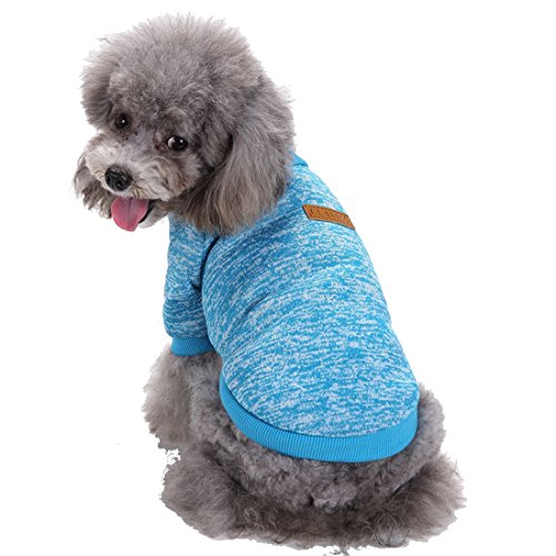 - GabeFish Dogs Clothes Pullover Fleece Hoodie For Small Medium Puppy Pets Cats Autumn Winter Apparel Sweatshirt Blue 2X-Large