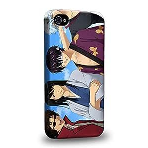 Case88 Premium Designs Gin Tama Yorozuya Gintoki Sakata 1624 Carcasa/Funda dura para el Apple iPhone 4 4s