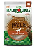 Nylabone Healthy Edibles Natural Venison Dog Treats, Medium, 10 Count