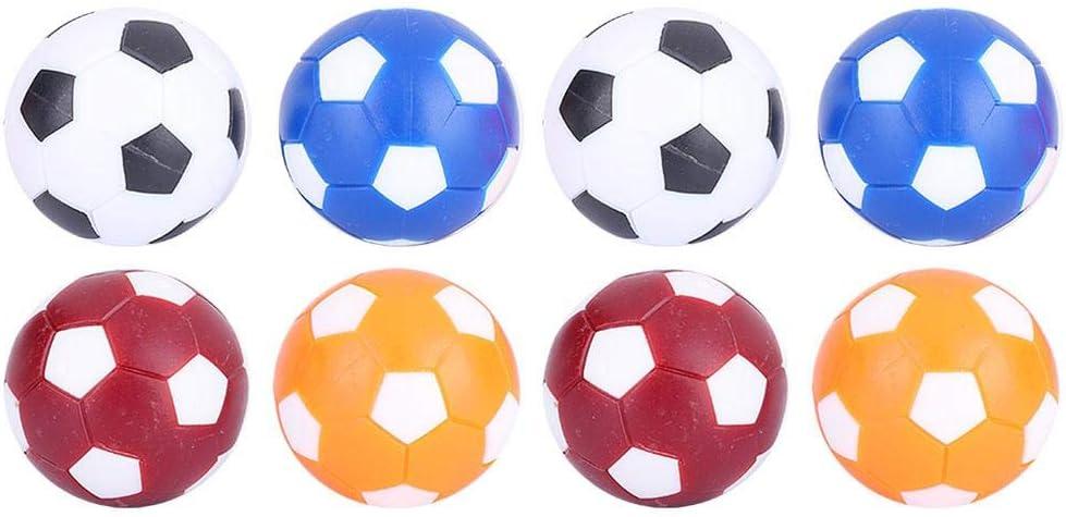 Dioche Balón de Fútbol de Mesa, 8PCS Mini Mesa de Fútbol Colorido de Fútbol Balones de Reemplazo Juego de Mesa de Pelota 36 mm: Amazon.es: Deportes y aire libre