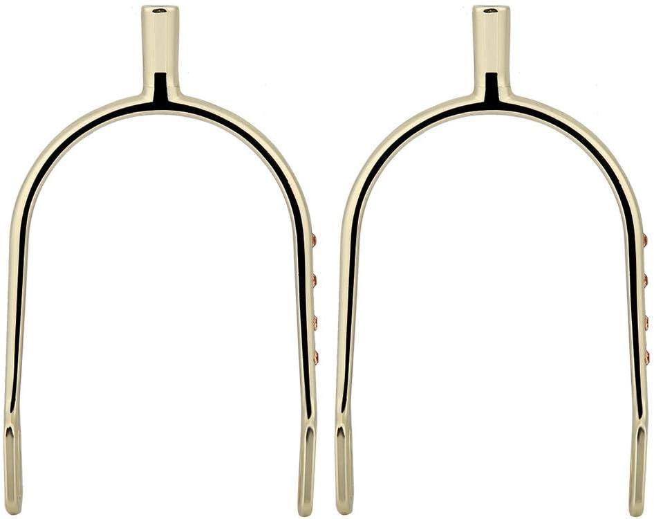 Sheens Premium de la Mujer Estribos Occidentales para Silla Silla de Caballo de Seguridad Ligera con Decoración de Diamantes de imitación Inglés Montar(Oro)