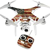 MightySkins Protective Vinyl Skin Decal for DJI Phantom 3 Standard Quadcopter Drone wrap cover sticker skins Vintage Flag