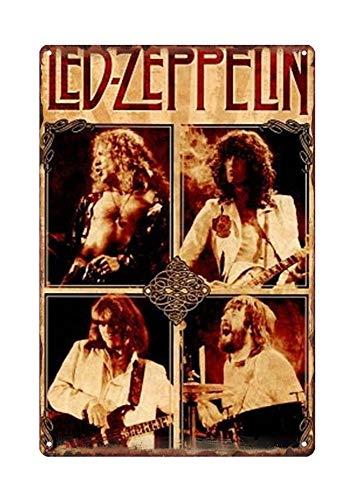 WholesaleSarong Led Zeppelin Rock Band Metal tin Sign Metal Monogram Signs Rustic Garage Ideas