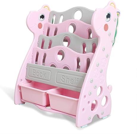 Estante de Libros Estantería de bajo Aprendizaje para niñas o niños/Estuche de plástico para niños