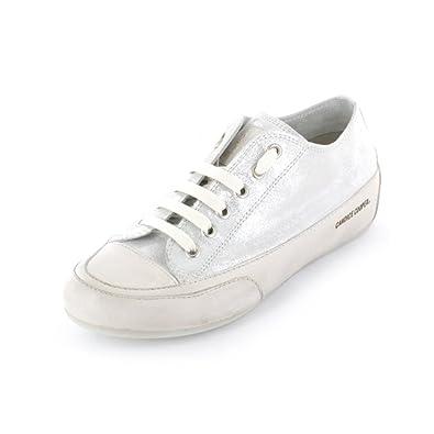 431b733887a2b7 Candice Cooper Rock 01 Damen Sneaker aus Glattleder in silber metallic  Größe 38 Bianco Spot Panna