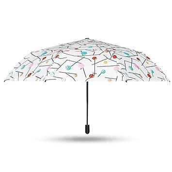 GYB paraguas Sombrilla plegable para el sol Sombrilla impermeable para protegerse del sol con protección UV