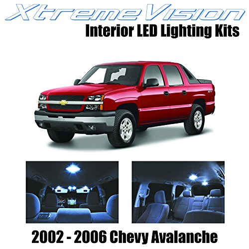 XtremeVision Chevy Avalanche 2002-2006 (12 Pieces) Cool White Premium Interior (2006 Chevy Avalanche Led)